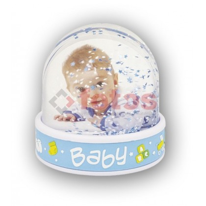 PHOTO GLOBE BABY BLUE