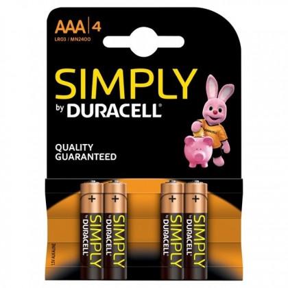 DURACELL BATERIJA LR3 AAA SIMPLY